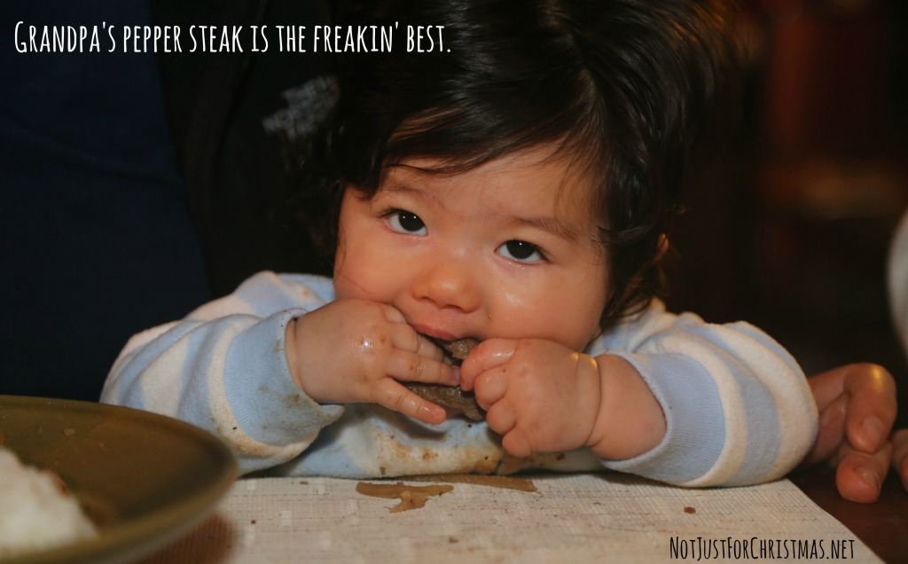 baby led weaning steak