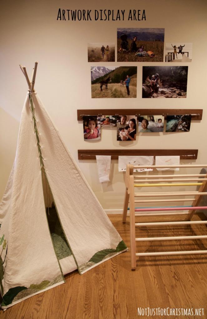 artwork display kids playroom
