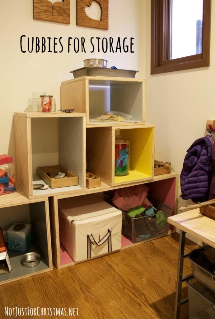 diy storage cubbies playroom
