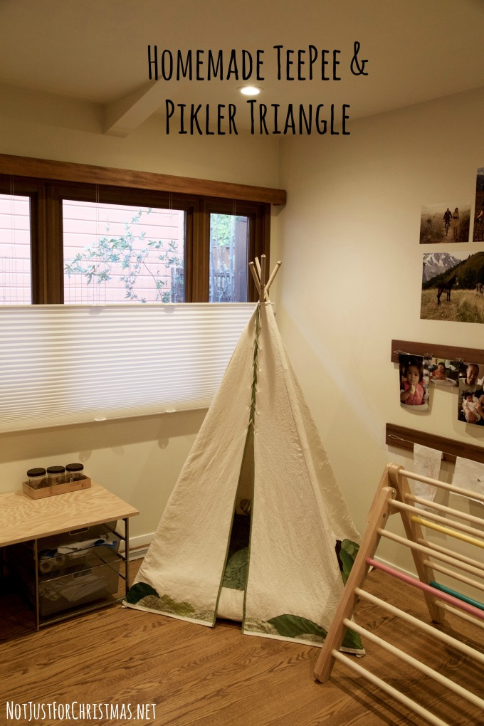 diy teepee pikler triangle climbing frame
